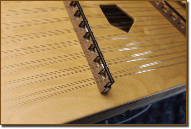 Bridges on hammered dulcimers by Songbird Dulcimers.