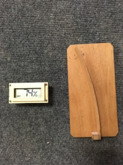 A hygrometer can help you monitor the humidity of your hammered dulcimer